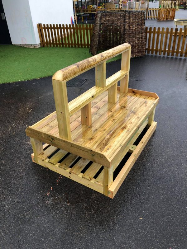 Outdoor Wooden Seating Area