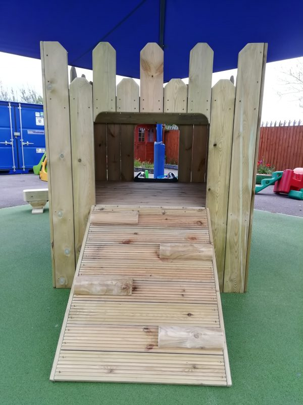 Entrance Of Wooden Playhouse