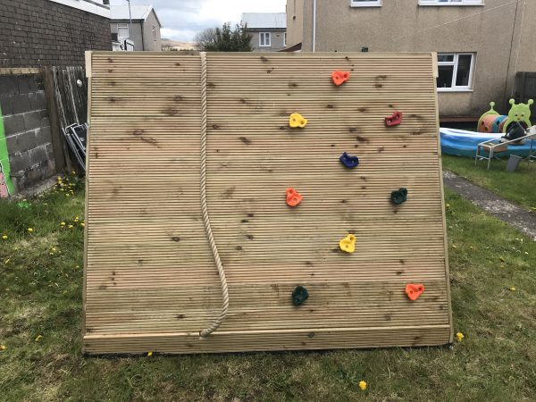 Climbing Wall With Rope
