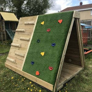 Outdoor Wooden Climbing Wall