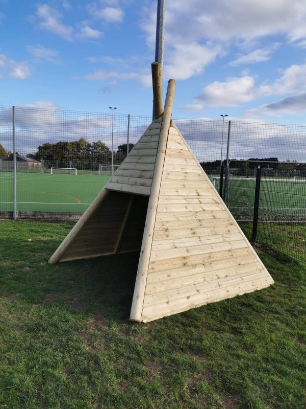 Side View Of Wooden Teepee