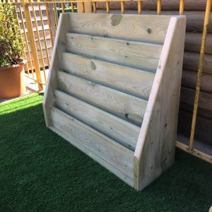 Outdoor Wooden Shelves