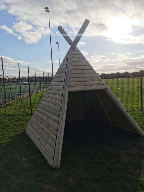 Wooden Teepee For Wheelchair