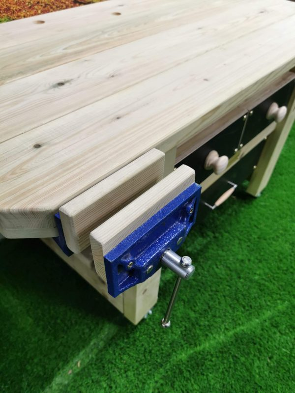Close Up Of Wooden Work Bench